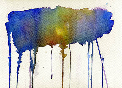 Poster featuring the painting Dripping Universe by Bee-Bee Deigner