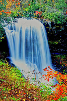 Poster featuring the photograph Dry Falls Front November by Meta Gatschenberger