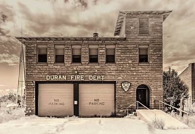 Poster featuring the photograph Duran Fire Dept by Lou Novick