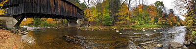 Poster featuring the photograph Durgin Covered Bridge - North Sandwich, Nh by Joann Vitali