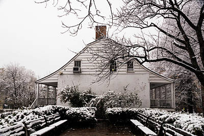 Poster featuring the photograph Dyckman Farmhouse In Winter by Cole Thompson