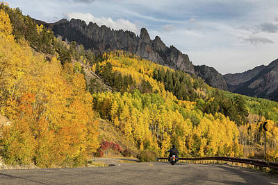 Poster featuring the photograph Easy Autumn Rider by James BO Insogna