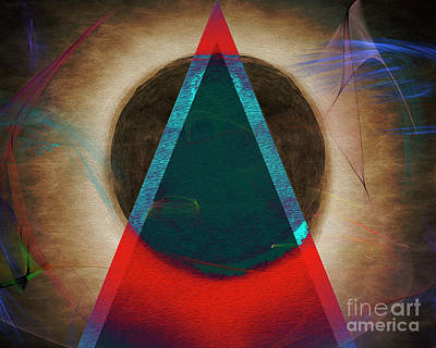 Poster featuring the digital art Eclipse 2024 by Edmund Nagele