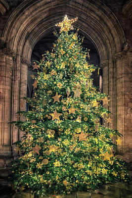 Ely Cathedral Christmas Tree 2018 Poster