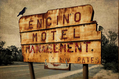 Poster featuring the photograph Encino Hotel by Lou Novick