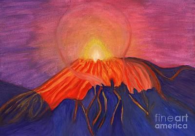 Erupting Volcano Poster