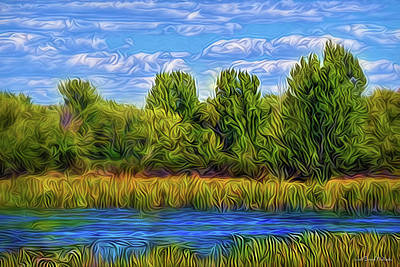 Poster featuring the digital art Eternal River Afternoon by Joel Bruce Wallach