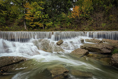 Poster featuring the photograph Fall At Pillsbury Crossing by Scott Bean