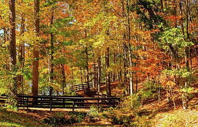Fall Hike At Mirror Lake Poster