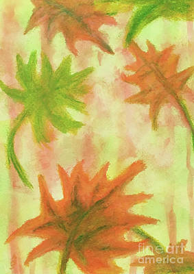 Fanciful Fall Leaves Poster