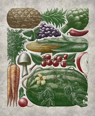 Farmer's Market - Color Poster