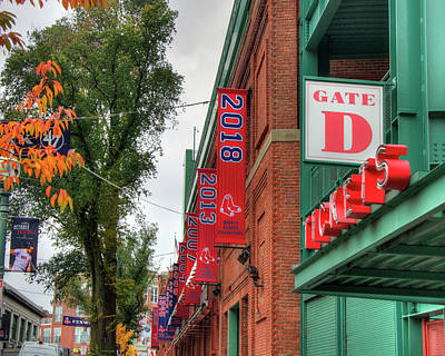 Poster featuring the photograph Fenway Park 2018 Championship Banner by Joann Vitali
