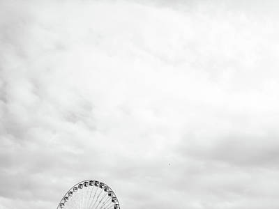 Ferris Wheel Clouds Poster