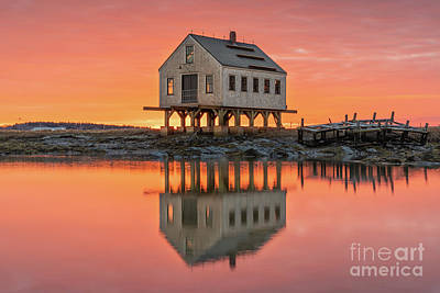 Fiery Skies At Cape Porpoise Poster