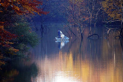 Poster featuring the photograph Fishing In The Fall by Mike Murdock