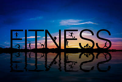 Fitness Concept Poster