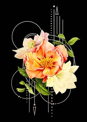 Poster featuring the digital art Floral Abstraction by Bee-Bee Deigner