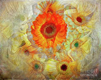 Poster featuring the digital art Floral Joy by Edmund Nagele