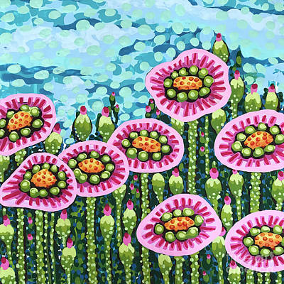 Floral Whimsy 8 Poster