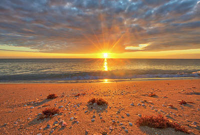 Poster featuring the photograph Florida Sunrise At Delray Beach by Juergen Roth