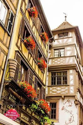 Flower Boxes Strasbourg Poster