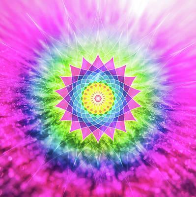 Flowering Mandala Poster