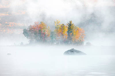 Poster featuring the photograph Foliage Burst At Leffert's Pond Vermont by Expressive Landscapes Fine Art Photography by Thom