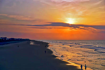 Folly Beach Sunrise Poster