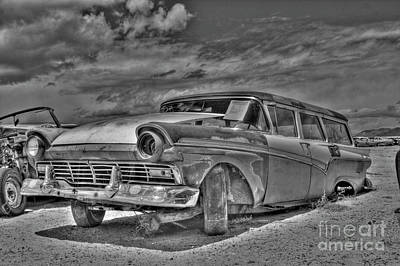 Ford Country Squire Wagon - Bw Poster