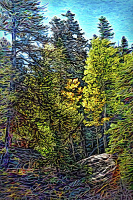 Poster featuring the digital art Forest Sunlight by Joel Bruce Wallach