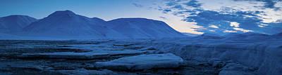 frozen coastline near Longyearbyen Poster