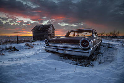 Poster featuring the photograph Frozen Galaxie 500  by Aaron J Groen