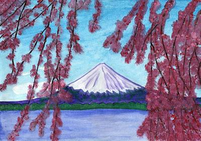 Fuji Mountain And Sakura Poster