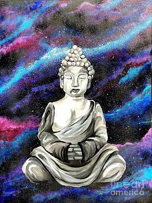Poster featuring the painting Galaxy Buddha  by Jennah Lenae