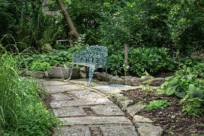 Poster featuring the photograph Garden Bench by Dale Kincaid