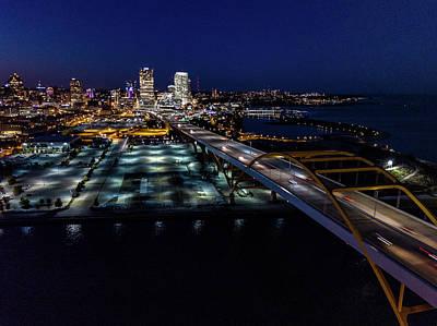 Poster featuring the photograph Gateway To Milwaukee by Randy Scherkenbach