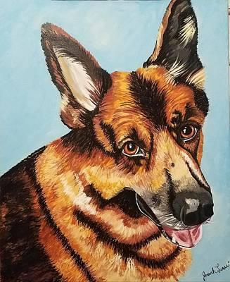 Poster featuring the painting German Shepard  by Jennah Lenae
