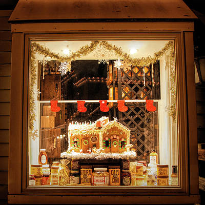 Poster featuring the photograph Gingerbread Holiday Window by Kristia Adams