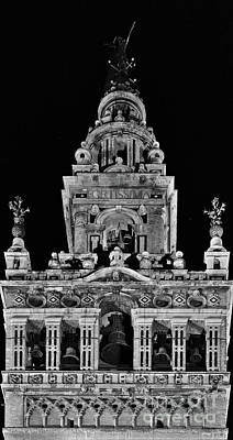 Giralda Tower In Monochrome. Seville Poster
