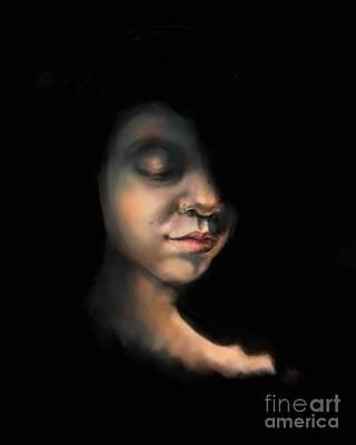 Girl In Golden Twilight Poster