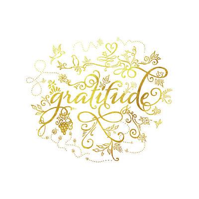 Golden Gratitude Poster