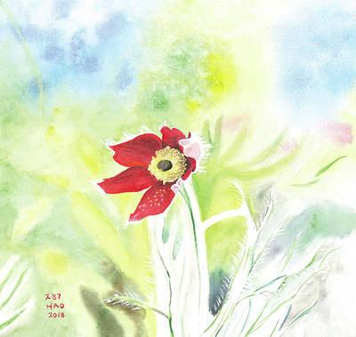 Granny Flower 3 Poster