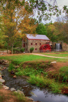 Poster featuring the photograph Grist Mill In Fall by Joann Vitali