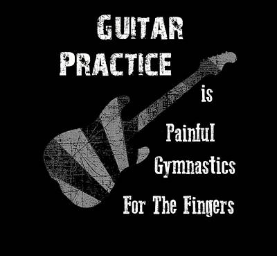 Guitar Practice Is Painful Poster