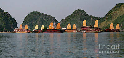 Poster featuring the photograph Halong Bay--waiting For Sunrise by PJ Boylan