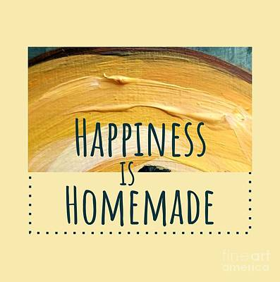 Poster featuring the painting Happiness Is Homemade #2 by Maria Langgle