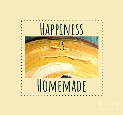 Poster featuring the painting Happiness Is Homemade #3 by Maria Langgle