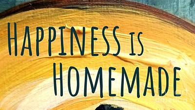 Poster featuring the painting Happiness Is Homemade by Maria Langgle