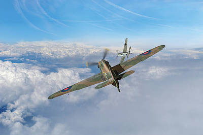 Poster featuring the photograph Hawker Hurricane Deflection Shot by Gary Eason