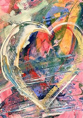 Poster featuring the painting Heart Full Of Love by Robin Maria Pedrero